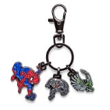 SpiderMan Enamel Key Chains