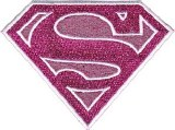 DC Comics Supergirl Pink Logo Patch