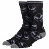 Nightmare Before Christmas Jack Skellington Mens Crew Socks