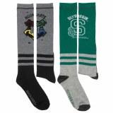 Harry Potter Hogwarts/Slytherin Knee High Socks 2-Pack