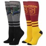 Harry Potter Hogwarts/Gryffindor Knee High Socks 2-Pack