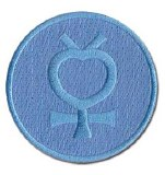 Sailor Moon Mercury Logo Patch