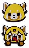 Aggretsuko Happy/Angry PVC Pin 2-Pack