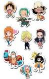 One Piece Punk Hazard Puffy Sticker Set