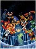 Mega Man Surrounded Wall Scroll