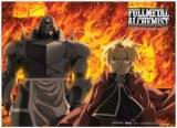 Fullmetal Alchemist Ed and Al Fire Wall Scroll