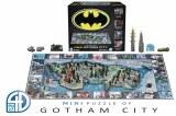 4D Mini Batman Gotham City Puzzle