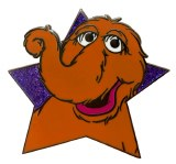 Sesame Street Snuffleupegus Star Pin