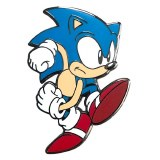 Sonic Sonic Classic Speedy Sonic Sonic The Hedgehog Collectible Pin