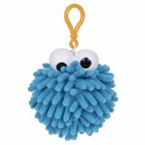Sesame Street Cookie Monster Fuzzy Pom Plush Clip
