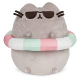 Pusheen with Striped Inner Tube and Sunglasses 9.5in Plush