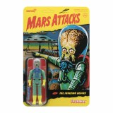 Mars Attacks ReAction The Invasion Begins Alien with Gun Action Figure