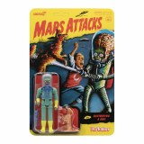 Mars Attacks ReAction Destroying A Dog Alien with Gun and Dog Action Figure