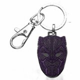 Black Panther Mask Enamel Keychain