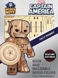 Incredibots Captain America Book/Wood Figure Set