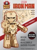 Incredibots Iron Man Book/Wood Figure Set