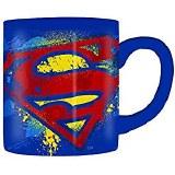 Superman Splattered Paint Logo 14oz Mug