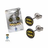 DC Batman Oval Logo Earrings