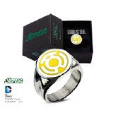 Green Lantern Fear Symbol Ring Size 8