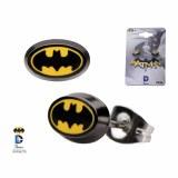 Batman Enamel Oval Earings
