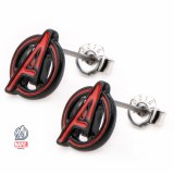 Avengers Red And Black Stud Earings