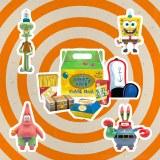 Spongebob Squarepants Krusty Krab Kiddie Meal Action Figure 4 Pk Convention Exclusive Set