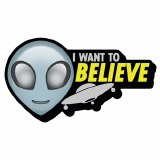 Alien I Want To Believe Funky Chunky Magnet
