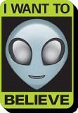 Alien Believe Funky Chunky Magnet