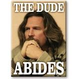 Big Lebowski Dude Abides Magnet