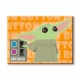Star Wars Mandalorian The Child Button Card Magnet