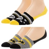 Batman No Show Socks 2 Pack