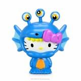 Hello Kitty Kaiju Aquados Blue Wave Boxed 3 In Vinyl Figure