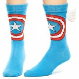Marvel Captain America Winged Crew Socks