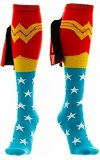 Wonder Woman Knee High Socks Shiny Red Caped