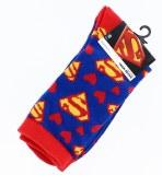 Superman Hearts/Emblems Junior Crew Socks