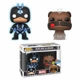 POP Marvel SDCC 2018 Teleporting Lockjaw Black Bolt PX 2 Pack