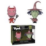 VYNL Nightmare Before Christmas Shock and Lock Vinyl Figure 2-Pack