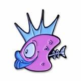 Pink Fish Heads Toon Pin
