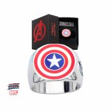 Captain America Shield Steel Ring Size 9