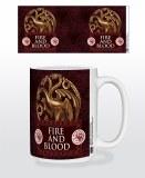 Game of Thrones Targaryen Metal Sigil Fire and Blood Mug