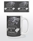 Game of Thrones Stark Metal Sigil Winter is Coming Mug