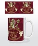 Game of Thrones Lannister Pays His Debts Metal Sigil Mug