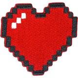 Bitmap Heart Patchpin
