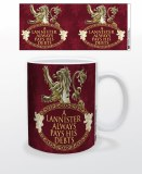 Game of Thrones Lannister Always Pays Debts Mug
