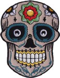 Candy Skull with Flower Patch