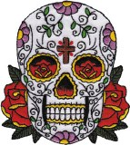 DSX Candy Skull with Cross Patch
