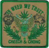 Cheech & Chong In Weed We Trust Patch