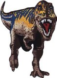 Blue Striped TRex Patch
