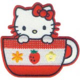 Hello Kitty Tea Cup Patch