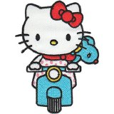 Hello Kitty Riding Scooter Patch